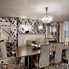 black and white dining room ideas gold dining room wallpaper design ideas