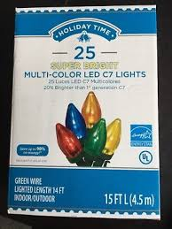 holiday bright lights c9 new holiday time 25 led multi color ceramic christmas lights c9