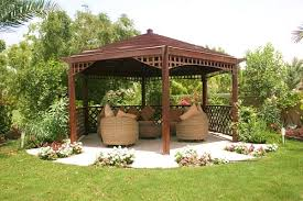 Backyards With Gazebos by Hexagon Gazebo Design For Backyard House Design Ideas