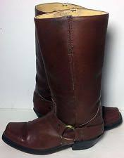 s frye boots size 9 vintage frye boots cus shearling fur 77025 brown leather