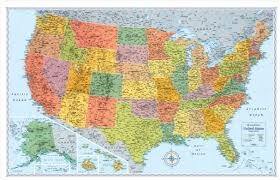 United States 50 States Map by Usa Signature Series Wall Map 50x32 Rand Mcnally