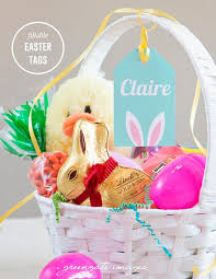 easter gift basket easter basket name tags easter gift tag editable fillable