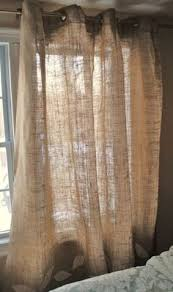 Burlap Looking Curtains Last Week I Made Some New Burlap Window Coverings For The Master