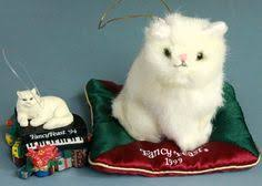 lot fancy feast white cat ornament advertising promo year