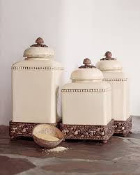 Ceramic Canisters For Kitchen by Ceramic Kitchen Canister Sets Fioritura Ceramic Kitchen Canister