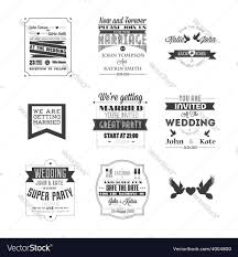 wedding invitations vector set of wedding invitations royalty free vector image