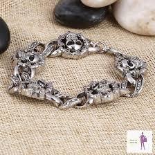 skull bracelet charm images Charm skull bracelet jpg