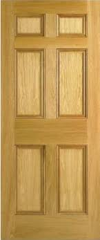 Solid Oak 6 Panel Interior Doors Solid And Unglazed Interior Panel Doors And Doors Available