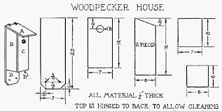 How To Make House Plans Build A Woodpecker House