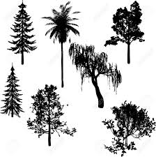 black trees silhouette royalty free cliparts vectors and stock