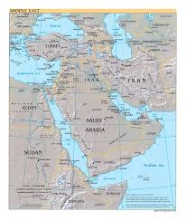 Political Map Asia by Detailed Political Map Of The Middle East With Relief Major