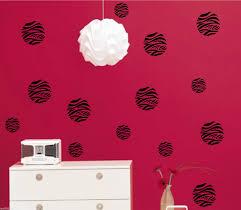 online get cheap animal print wall decals aliexpress zebra polka dot pack vinyl wall decal animal print art home decor size