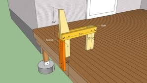 Build Deck Bench Seating Deck Bench Plans Free Howtospecialist How T