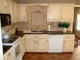 White Kitchen Cabinets With Glaze by Antique Painted And Stained Cabinets With White Appliances I