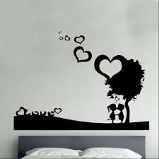 wall art ideas first love vynil wall art heart shaped tree man wall art ideas first love vynil wall art heart shaped tree man girl stickers bedroom interior stickers decorations accessories top vinyl wall art decals