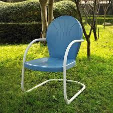 Crosley Furniture Outdoor Shop Crosley Furniture Griffith Sky Blue Steel Patio Conversation