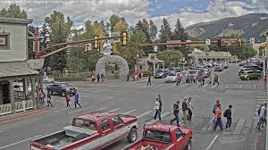 Best Town Squares In America Jackson Hole Wyoming Usa Town Square Seejh Com Youtube
