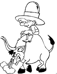 coloriage western cow boys à colorier allofamille