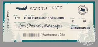 boarding pass save the date boarding pass save the date
