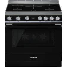 Smeg 110 Gloss Black Induction Cookers With Induction Hob Smeg Uk