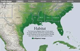 alligators in map few outside the south that oklahoma and arkansas