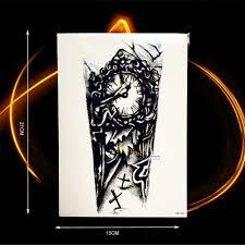 big tattoos for men online get cheap old clock tattoo aliexpress com alibaba group
