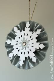 20 crafty days of shiny rosette ornaments see