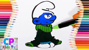 grouchy smurf from smurfs coloring pages for kids 8 how to color