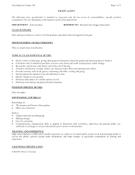 captivating reservation sales agent resume on bail agent cover