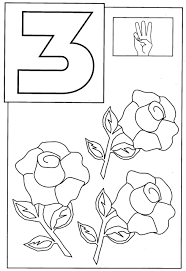 Imposing Design Number 3 Coloring Page Free Printable Pages Number 3 Coloring Page