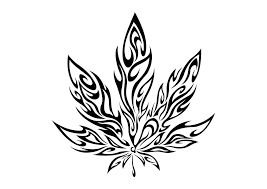 tribal cannabis leaf stencil photos pictures and