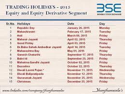 2016 stock market holidays india best 2017