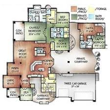 adobe style home plans courtyard house plan needs casita floor plan