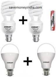 eveready cfl 27w pack of 2 battery rs 365 eveready led bulb