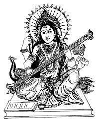 to print this free coloring page coloring india saraswati 4