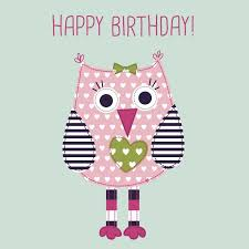 baby happy birthday card featuring ade owl cards gifts