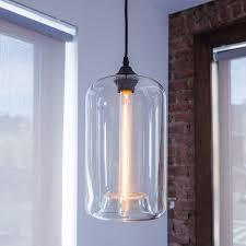 Glass Cylinder Pendant Light Glass Cylinder Pendant Light Ilashome