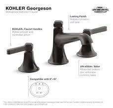 kohler georgeson 8 in widespread 2 handle water saving bathroom