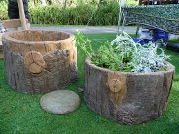 faux bois stump planters hand made faux bois fake wood i u2026 flickr
