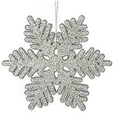 plastic snowflake ornaments tiny 24pcs sparkling