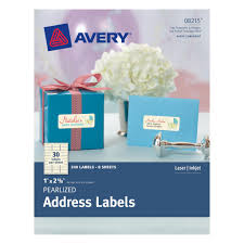 avery pearlized ivory address labels 1