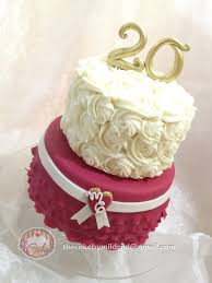 20th wedding anniversary 20th wedding anniversary cake by thecake by mildred cakesdecor