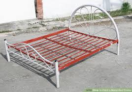 Iron Frame Beds How To Paint A Metal Bed Frame With Pictures Wikihow