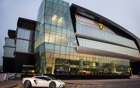 lexus service centre sheikh zayed lamborghini opens epic showroom in dubai biggest in the world
