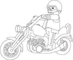 Coloriage Playmobil Moto a Imprimer Gratuit