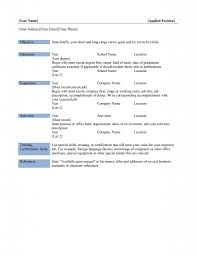 Free Sample Resumes Free Resume Templates Curriculum Vitae Template Microsoft Simple