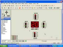 8051 c program to design traffic lights