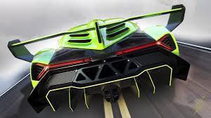 Lamborghini Veneno Yellow - lamborghini veneno green supercar back view wallpaper 1920x1080