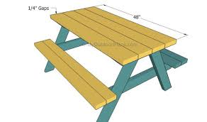 Make Your Own Picnic Table Bench by Kids Picnic Table Plans Myoutdoorplans Free Woodworking Plans