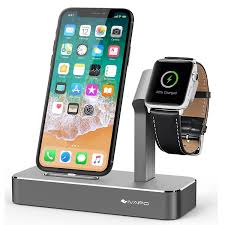 amazon com ivapo apple watch series 3 stand 2 in 1 aluminum apple